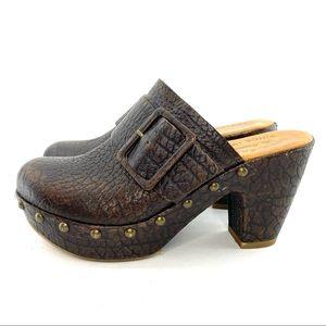 Kork-ease leather heeled mules size 7